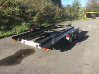 TWIN AXLE CAR TRANSPORTER TRAILER WITH RAMPS