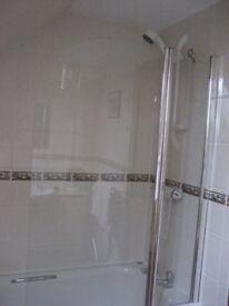 Bath shower screen one year old.