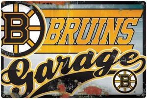 NHL Boston Bruins Garage Sign