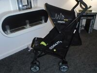 Almost new Cosatto lie flat umberella buggy with raincover