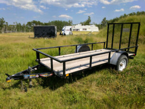 2013 Utility Trailer 5x12 Ramp with Track System
