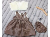 baby girl clothes special occasion dress Mothercare 3-6 months