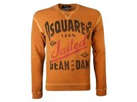 Dsquared Orange Jailed Crew Neck Sweatshirt (new with tags)