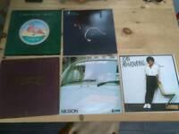 Various vinyl LPs.