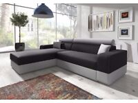 BRAND NEW CORNER SOFA FABRIC SOFA BED WITH STORAGE SLEEPER SOFABED or 3seater