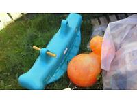 Swing, Little Tykes Cube & Whale, bouncer, trampoline etc £30 ALL
