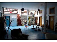 Quirky mezzanine garden room in Tottenham warehouse