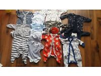 Boys First Size (7.8lbs) Sleepsuits X9 All Next and up to 1 month x6 bundle