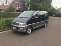 Toyota hiace regius 3.0 td automatic 7 8 seater mpv long mot service record camper project px