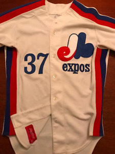 "Bill "" The SpaceMan"" Lee signed Official Expos Jersey."