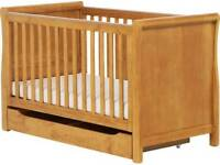 Large mother care cot with new matress