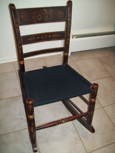 ANTIQUE ORIGINAL HAND PAINTED SMALL ROCKING CHAIR