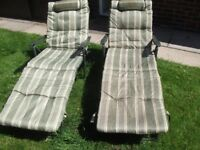 quality pair of sun loungers