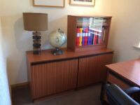 3 x Office Cabinets - 2 Wood, 1 Glass Door Ideal For Study or Bedroom