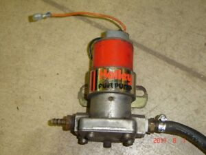 "Holley ""RED"" electric Fuel pump. Works well. 97 GPH"