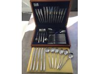 Viners Love Story Stainless Steel 65 Piece Cutlery Set In Original Wooden Box