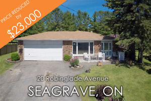 3 Bdrm Seagrave Backsplit across from Nonquon River on 1.18 AC