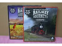 Worlds Greatest Railway Journeys - 2 x 12 dvd Box Sets