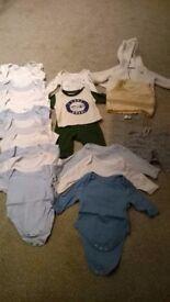 0-3 month boys bundle – 21 items.