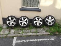 Citroen TSW alloy wheels 16 inch tyres with excellent tread