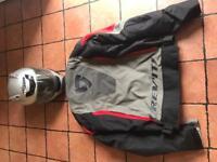 Motorbike jacket and helmet
