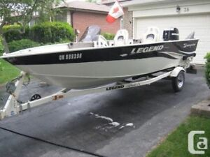 16' Aluminum Boat With Steering Console
