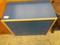 Blue chest of drawers (from Cambridge Re-use, a Charity Organisation)