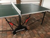 Full sized Kettler Table Tennis Table with Net..
