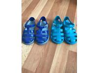 Dolce & Gabbana Sandals & Hugo Boss jelly sandals Blue size 25 U.K. 7.5