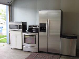 4 Piece Stainless Steel Appliances Set