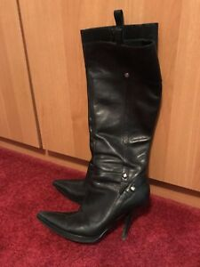 Nine West leather boots size 7.5