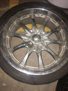 CAR TIRES AND BOSS MOTOR SPORTS RIMS FOR SELL