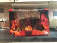 Freddy and Jason horror film figures