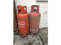 Two empty 34kg Calor Gas Bottles pick up only