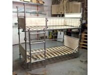 Industrial Style Q-Clamp Real Timber Bunk Bed