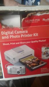 Camera photo printing set