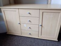 pine effect dresser cosmetic damage to front quick sale £20