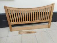 "Solid oak headboard for 4ft 6"" double bed"