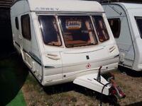 2003 Abbey Aventura 315 2 Berth End Washroom Caravan with Motor Mover