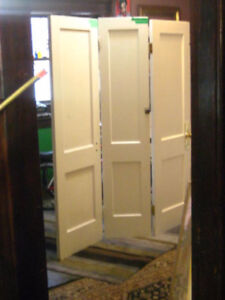 antique solid wood 3 Door Partition Wall - Great 4 Privacy!