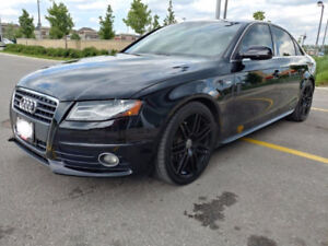 2010 Audi A4 S-Line 6 Speed Quattro AWD Black and rims 4 SELL