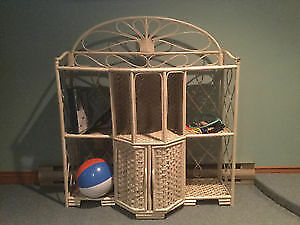 Wicker book/ storage unit