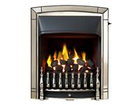 Valour Petrus SIlver Full Depth Natural Gas Fire - Brand New/Boxed