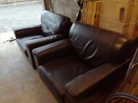 2 x Dark brown armchair (£25 for one or £40 for pair)