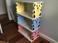 Children's Teddy Bear Bookcase / Shelf