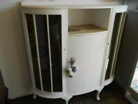 Feature White Painted Display Cabinet