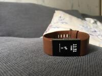 Amazing condition Fitbit charge 2&genuine Fitbit leather strap