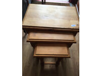 Nest of tables , solid wooden tables. feel free to view free local delivery