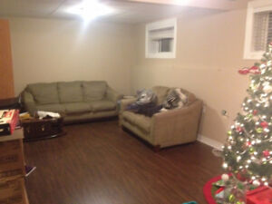 Spacious 1 bedroom basement apartment in GFW  available Sept 1st