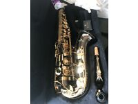 Never been played Cecilio Alto Saxophone, black nickel plated. AS-280BNG
